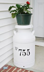 Creative House Number Ideas - Milk Jug