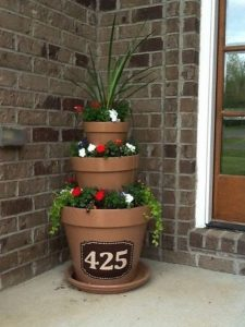 Creative House Number Ideas-flower