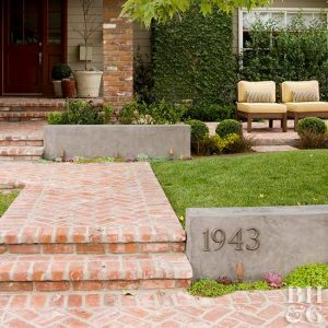 Creative House Number Ideas stone