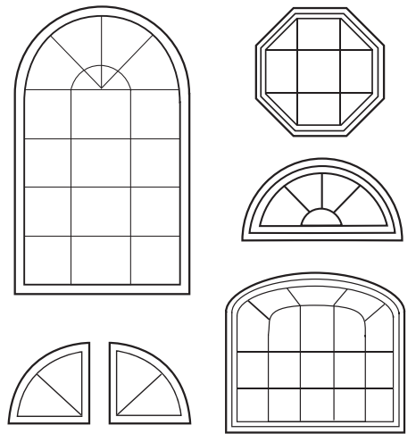 Geometric Shape Windows